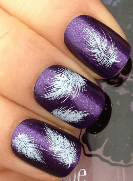 Cute Feather Nail Decals