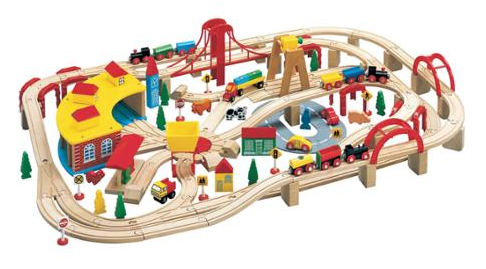 Wooden Train Play Set Just $70.54! Down From $126.65!