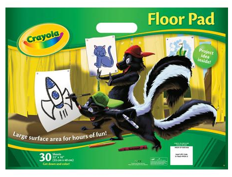 """Crayola Giant Floor Pad, 22"""" x 16"""" Just $4.47! Down From $8.00!"""