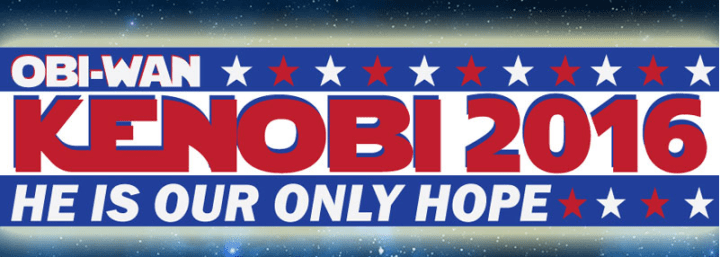 Obi-Wan Kenobi 2016 Bumper Decal Just $5.99! Down From $12! Ships FREE!