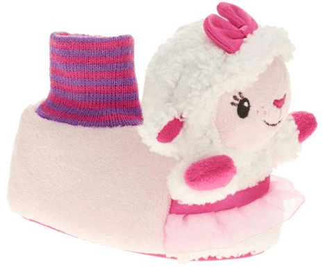 Doc McStuffins Toddler Girl's Lambie Sock-top Slipper Just $3.50! Down From $9.97!