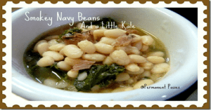 Smokey Navy Beans And A Little Kale!