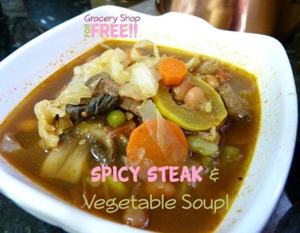 Spicy Steak & Vegetable Soup!