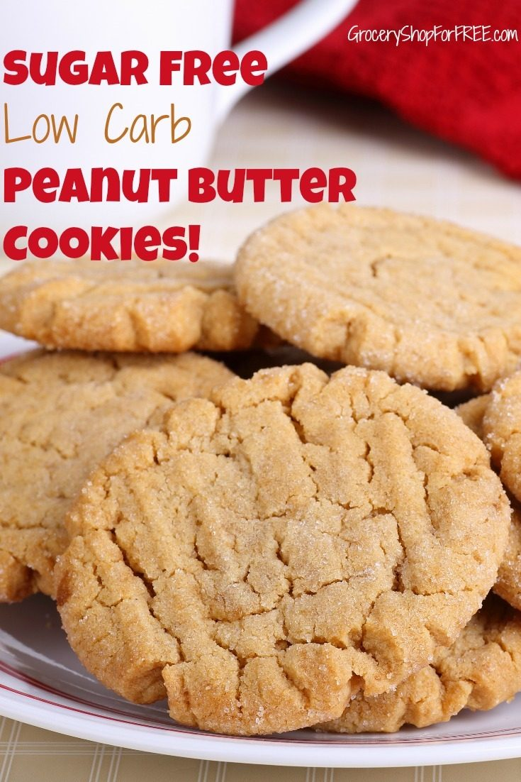 Looking for a healthy and quick snack?  Check out these Peanut Butter Cookies:  Sugar Free Low Carb Recipe!