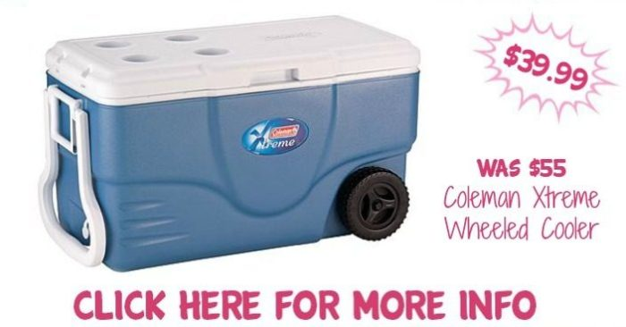 Coleman Xtreme Wheeled Cooler Just $39.99! Down From $55!