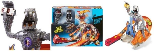 Hot Wheels Nitrobot Attack Track Set Just $14.99!  Down From $24.99!