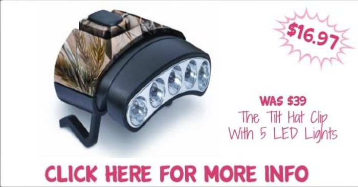 The Tilt Hat Clip With 5 LED Lights Just $16.97! Down From $39!