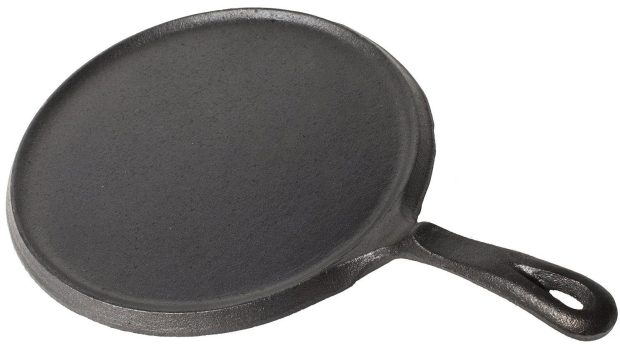 Utopia Kitchen Pre-Seasoned Cast Iron Round Griddle Just $12.91! (reg. $39.99)