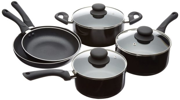 AmazonBasics 8-Piece Nonstick Cookware Set Was $50 Now Just $38.99!