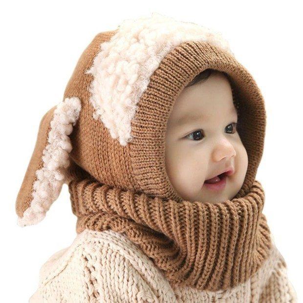 Baby Animal Scarf Caps Just $11.99!  (Reg. $21)