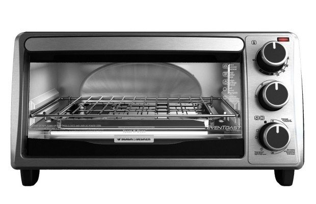Black+Decker 4-Slice Toaster Oven, Silver Only $24.97! (Reg. $40)!