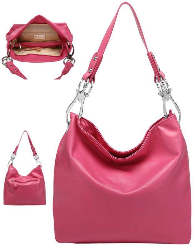 Top Handle Soft Hobo Shopper Handbag Just $16.99! (Reg. $55)