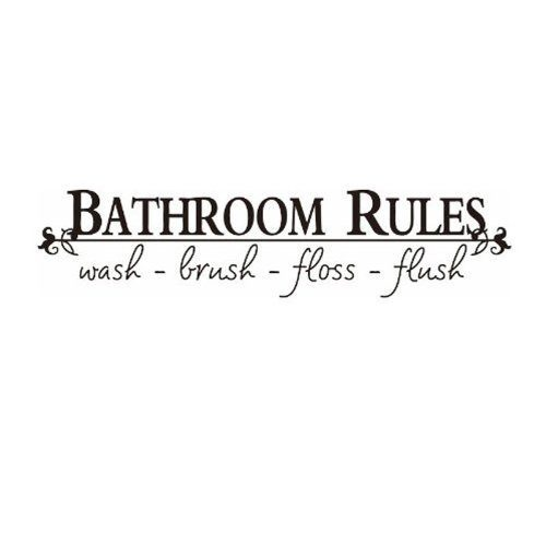 Bathroom Rules Vinyl Wall Decal Just $1.85 + FREE Shipping!