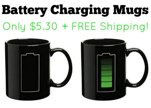 Color Changing Battery Charging Mug Only $5.30 + FREE Shipping!