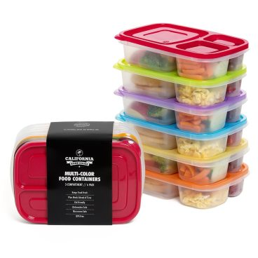 3 Compartment Food Containers Set Of 6 Just $14.72!  (Reg. $29!)
