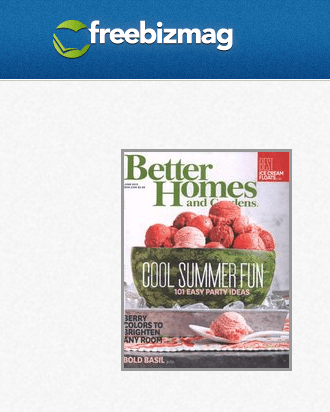 FREE Subscription to Better Home and Gardens!