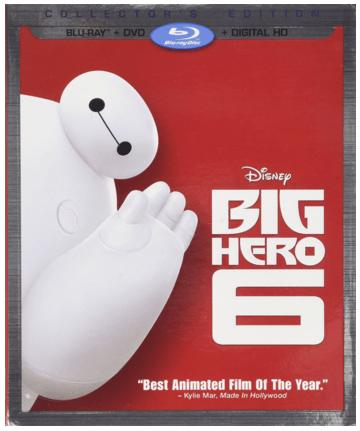 Big Hero 6 (Blu-ray + DVD + Digital HD) Just $15 Down From $40!