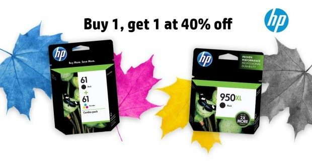 Buy One HP Ink Get One 40% Off!