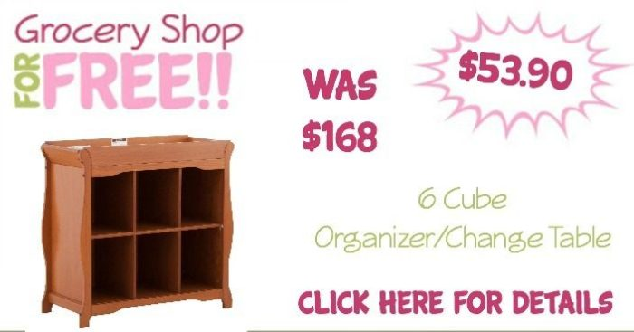 6 Cube Organizer/Change Table Only $53.90 (Reg. $168)!