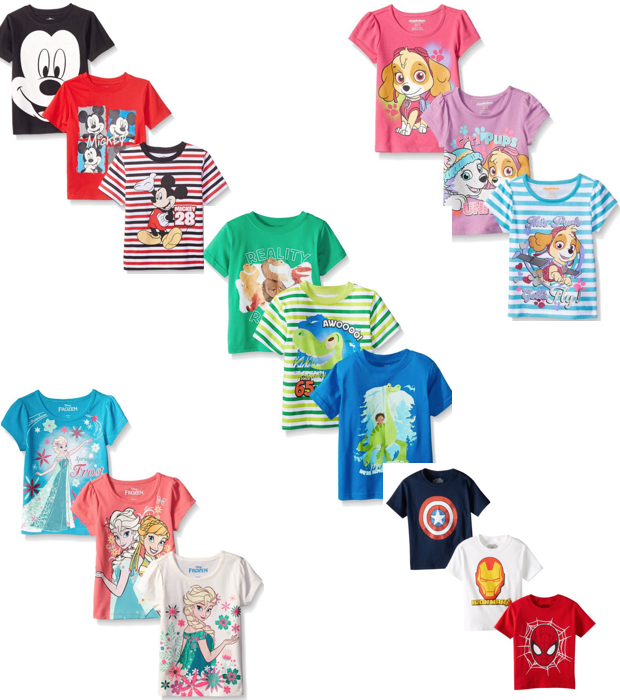 Kids Character Tees 3 Pk Only $17.99!