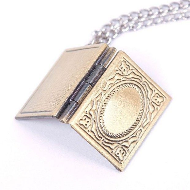 Bronze Book Locket Necklace Only $2.53 With FREE Shipping!