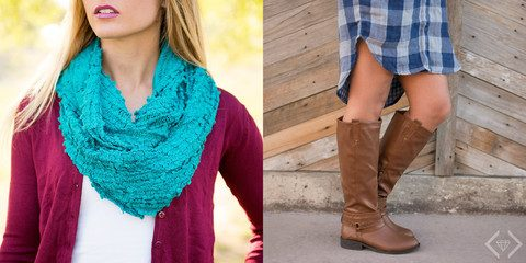 Boots And Scarf Combo Only $32.95 Ships FREE!