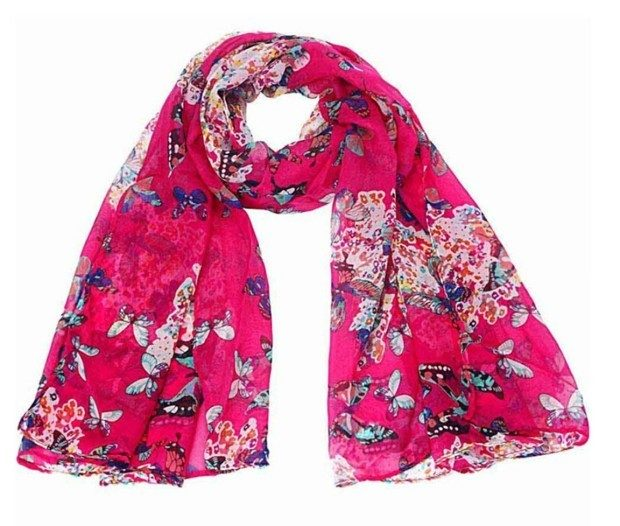 Butterfly Print  Chiffon Scarf Just $2.89! FREE Shipping!