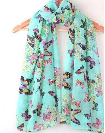 Women Fashion Butterfly Print Chic Elegant Long Scarf Wrap Just $4 Plus FREE Shipping!
