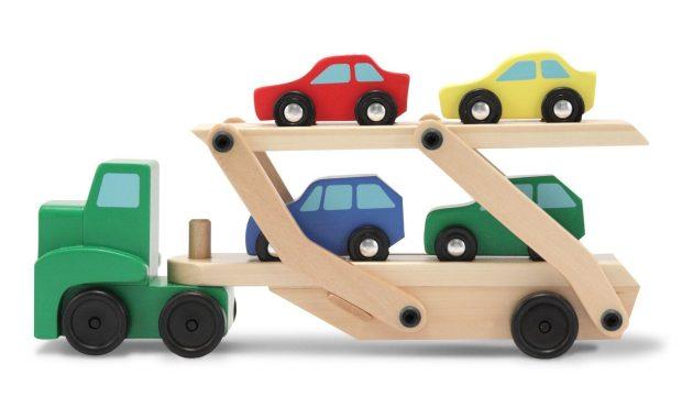 Melissa & Doug Car Carrier Truck & Cars Wooden Set Just $13.79! (reg. $20)