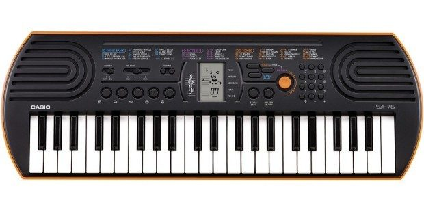 Casio 44 Key Mini Keyboard, Orange Was $70 Now Only $39.99!
