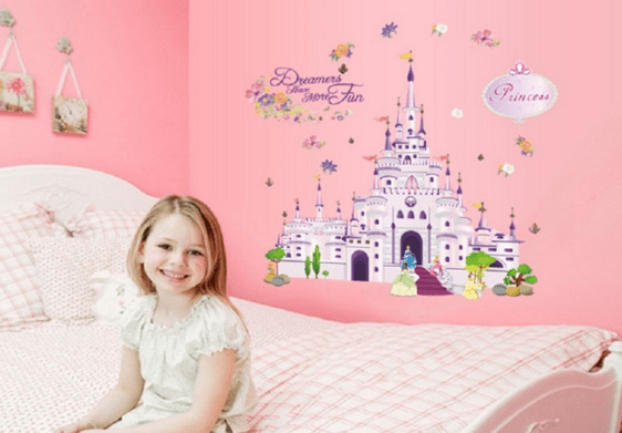 Large Beautiful Princess Castle Disney Wall Decal Just $8 And FREE Shipping!