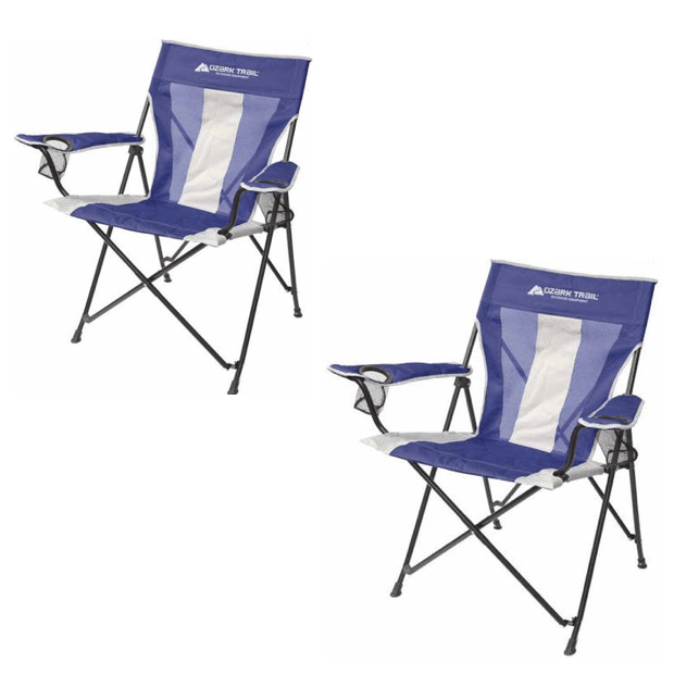 Ozark Trail Oversized Tension Chairs - Set Of 2 - Only $20!