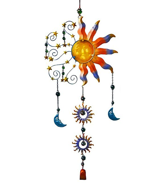 Blue & Orange Sun Wind Chime Only $19.99!