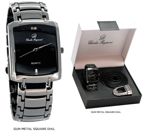 Men's Watch & Belt (2 Pc Set) - Assorted Styles Only $21 Shipped!