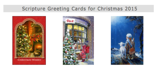 FREE 3 Scripture Greeting Cards For Christmas!