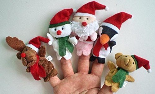 Christmas Finger Puppets 5 Pc Set Only $2.94! Ships FREE!