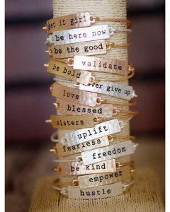 Tribe Stamped Phrase Bangle Bracelets Only $24.95!