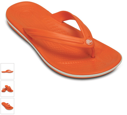 Orange & White Crocband Flip-Flop Only $13.99!