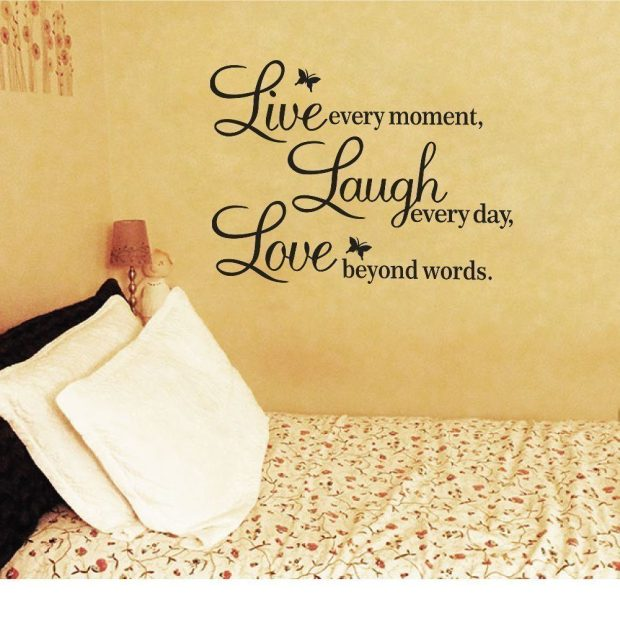 Live Every Moment, Laugh Every Day, Love Beyond Words Wall Decal Only $1.92!