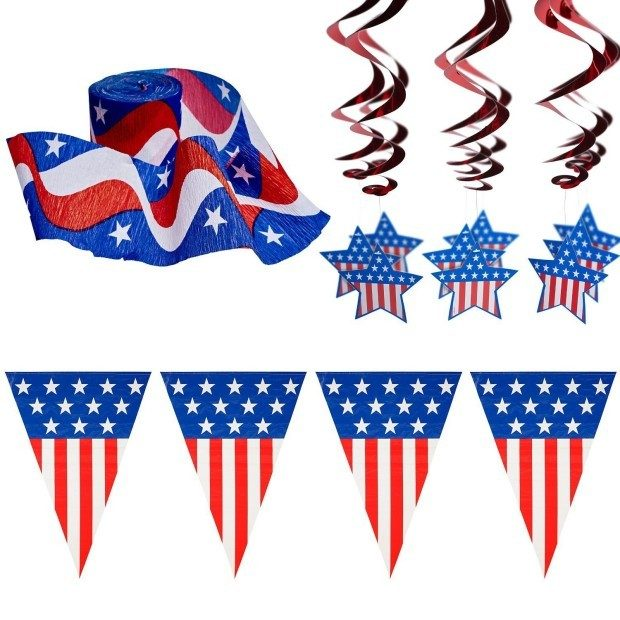 4th Of July Patriotic Decorations Party Pack Only $14.99!