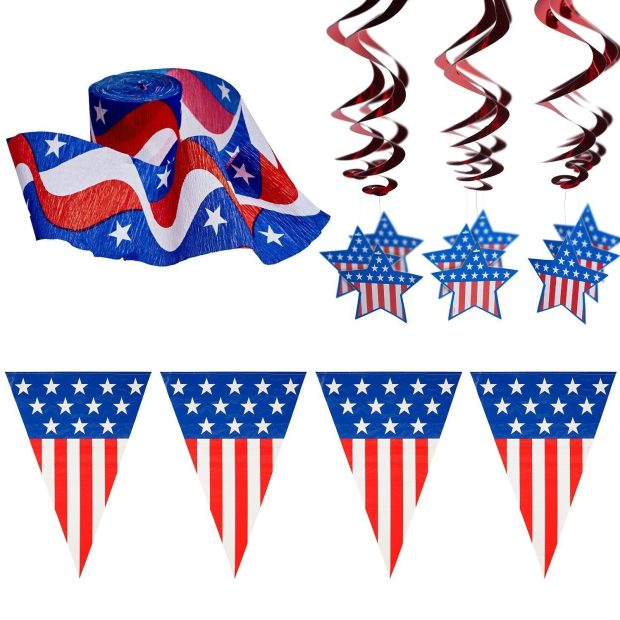 4th Of July Patriotic Decorations Party Pack Only $23.97!