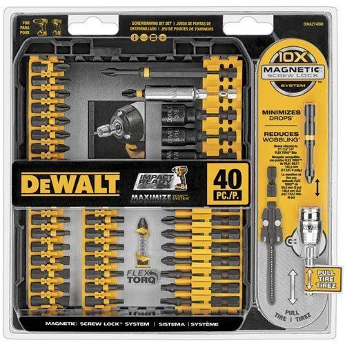 DEWALT IMPACT READY FlexTorq Screw Driving Set, 40-Piece Only $19.99!