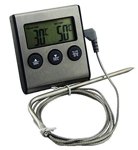 Digital Food Probe Thermometer & Timer With Alarm Just $9.68 Shipped!