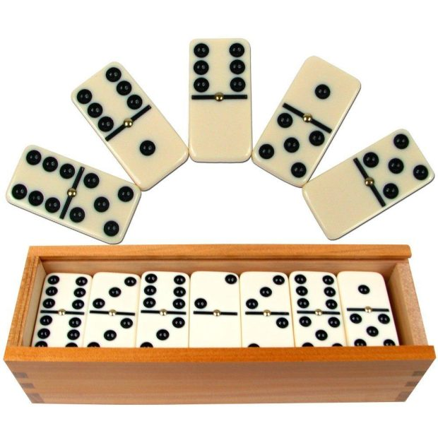Double Six Premium Dominoes (28 Pc) With Wood Case Only $13.99! Down From $19.99!