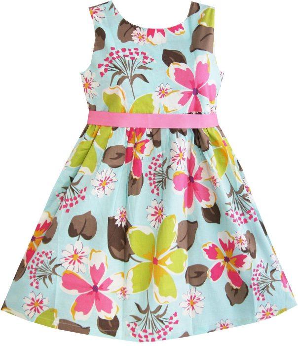 Girls Dress Blue Flower Print Just $5.29! (reg. $25)