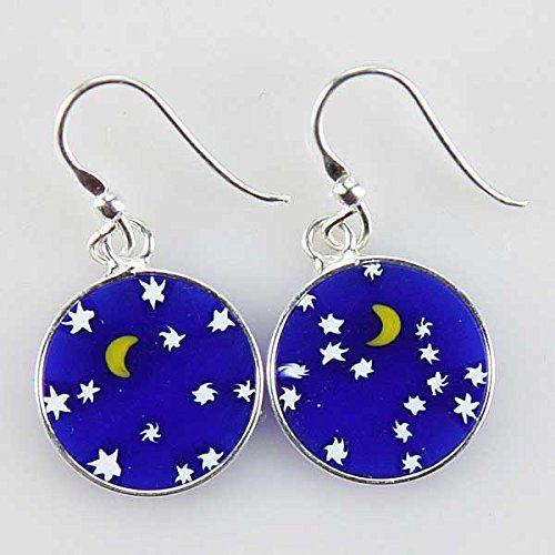 """""""Starry Night"""" Dangle Earrings in Silver Only $28.95!"""
