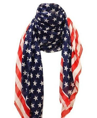 American Flag Chiffon Scarf Only $2.19 + FREE Shipping!