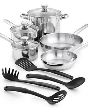 Tools of the Trade Stainless Steel 12-Pc. Cookware Set Just $29.99! (Reg. $120!)