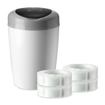 Tommee Tippee Simplee Diaper Pail Starter Set with 4 Refills Just $19.64! (Was $33)
