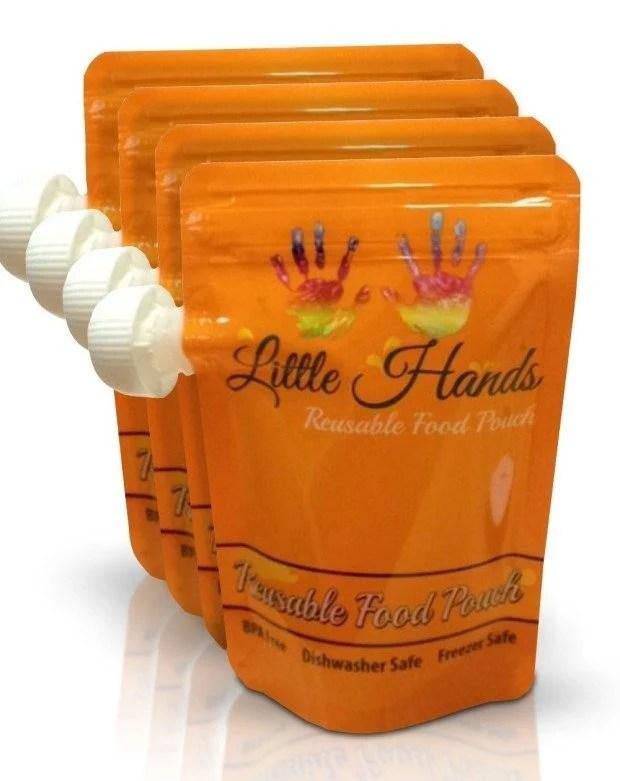 Little Hands Reusable Food Pouch 7oz. (4-pack) Just $6.79! (Reg. $20!)
